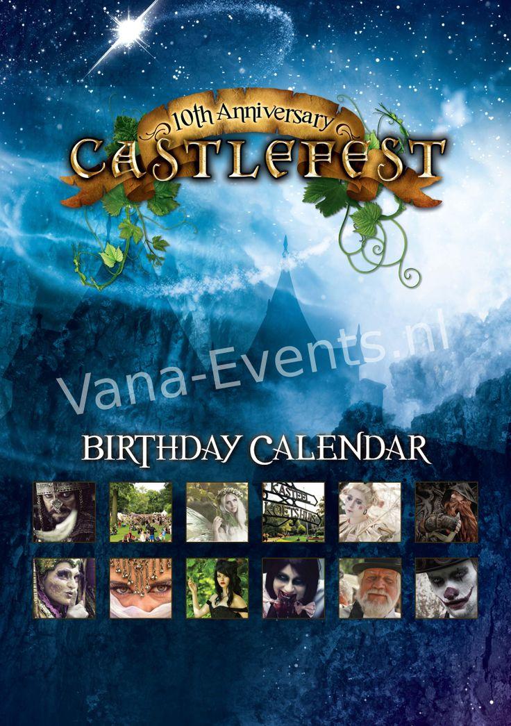 Castlefest birthday calendar