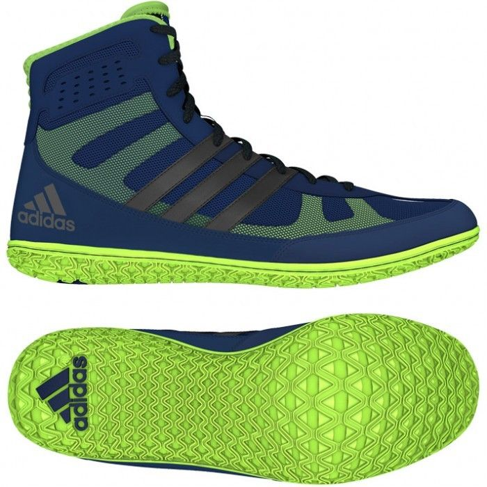 Adidas Mat Wizard 3 Wrestling Shoes - Navy Blue/Silver/Lime Green Canada