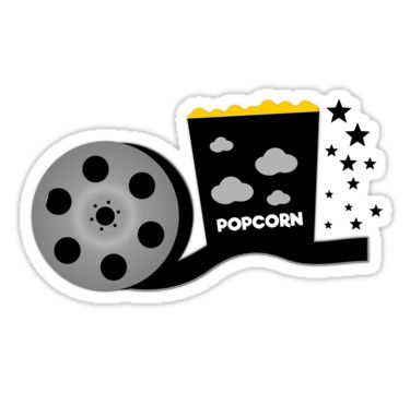 Movie time #sticker #redbubble http://www.redbubble.com/people/cocodes/works/21711015-movie-time