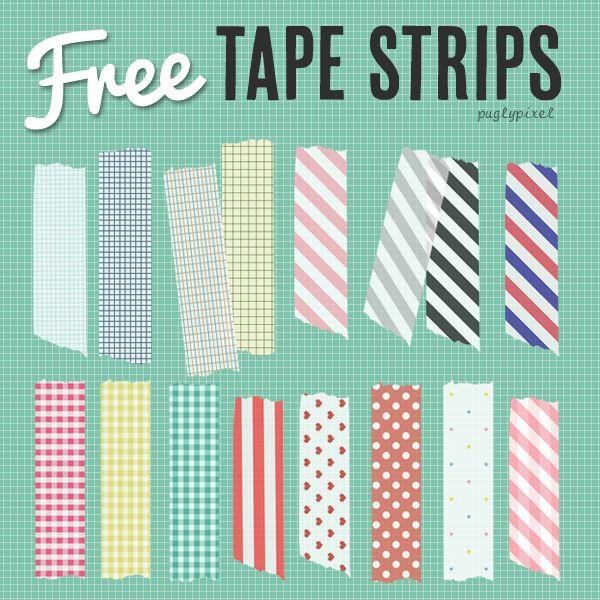 tape strips: Washi Tape Decor, Free Digital Washi Tape, Graphics Freebies, Free Tape, Free Clip Art, Clipart, Free Photoshop Paper, Tape Strips, Free Printable