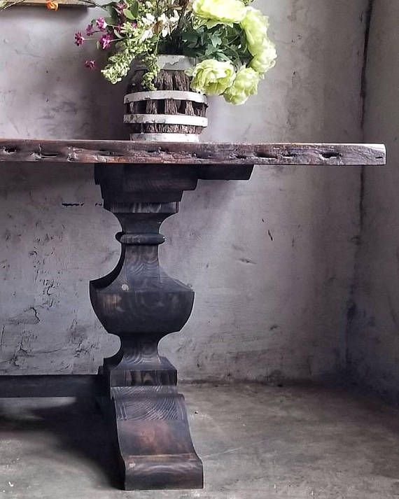 Check out this item in my Etsy shop https://www.etsy.com/listing/584241261/rustic-farm-table-trestle-base