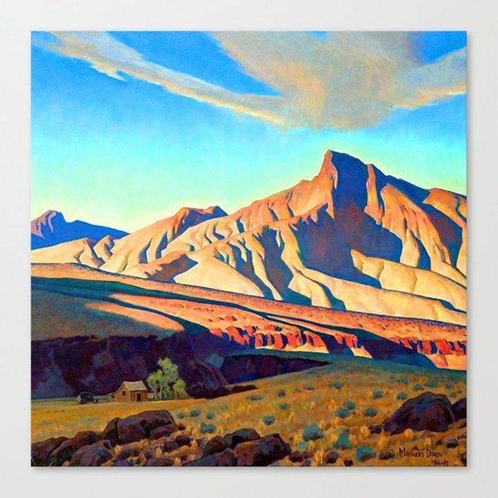 Maynard Dixon Home Of The Desert Rat Canvas Print By Jon Baran Large In 2020 Maynard Dixon Phoenix Art Museum Desert Painting