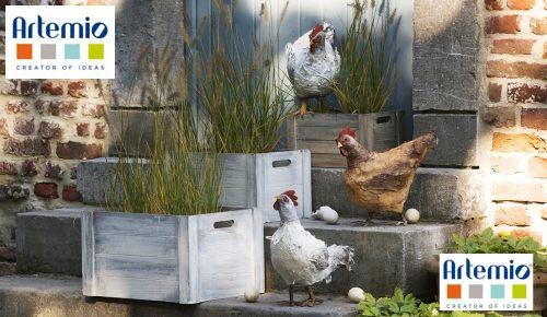 Et pourquoi pas des poules en Powertex? | Artemio Créateur d'idées