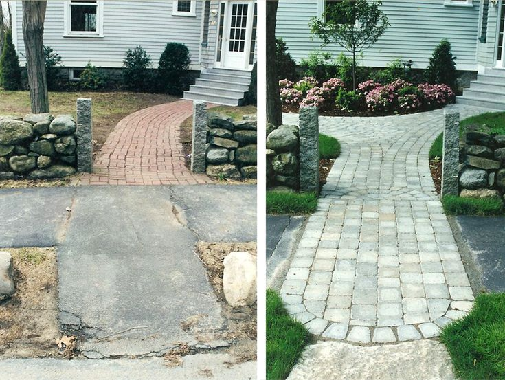 Small Front Yard Landscaping Before And After : Best images about before and after landscape design on