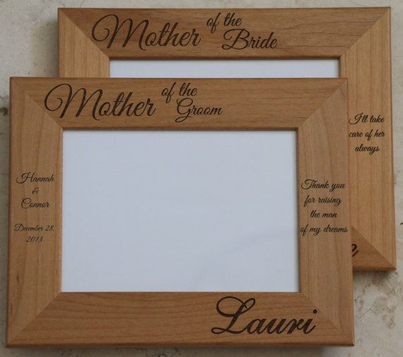 Mother of Groom Gift, Mother of Bride Frame, Laser Engraved Wood Picture Frame, Personalized Picture Frame, Aunt, Grandma, Wedding frame