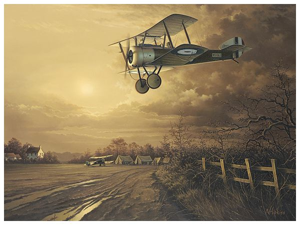Coming Home - Aviation Art by Neil Hipkiss Aviation Artist