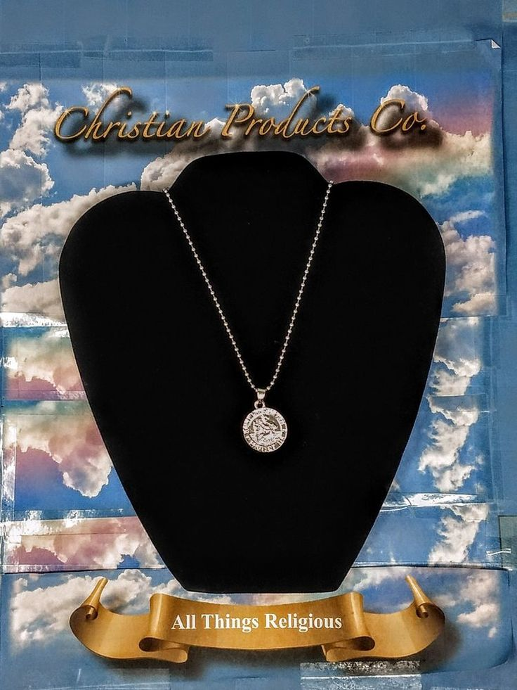 Men/Woman Silver Color Jewelry Pendant St Christopher Protect Us #ChristianHouse #Pendant
