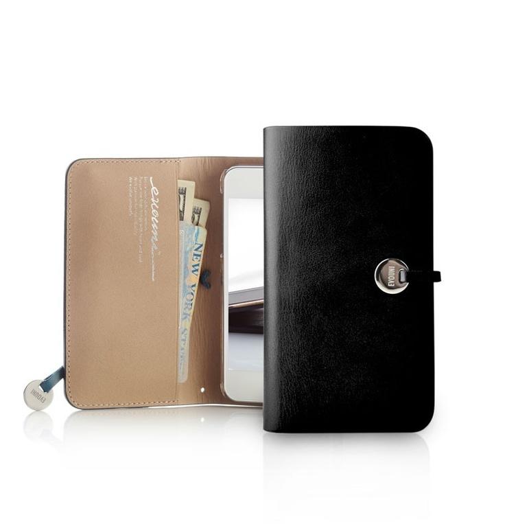 Evouni iPhone 5 Leather Arc Wallet Case - Black