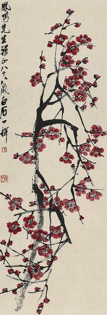 齐白石 红梅 by China Online Museum - Chinese Art Galleries, via Flickr