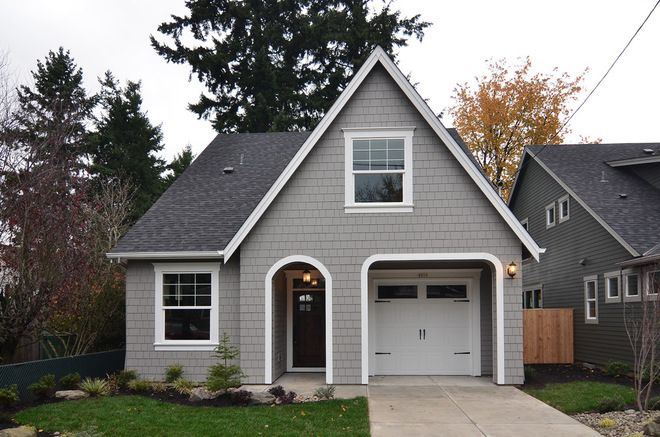 Sw 7066 gray matters exterior house ideas pinterest gray for Gray exterior house paint color