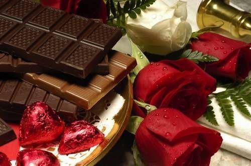 decoracion para san valentin  Tener en cuenta la decoracion con rosas y chocolates