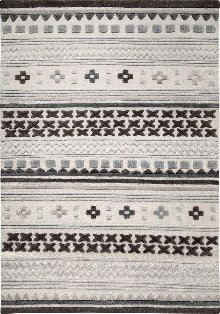 Ethnic Chic vloerkleed 130cm x 190cm grijs - Esprit