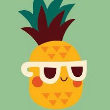Image result for cartoon pineapple with sunglasses
