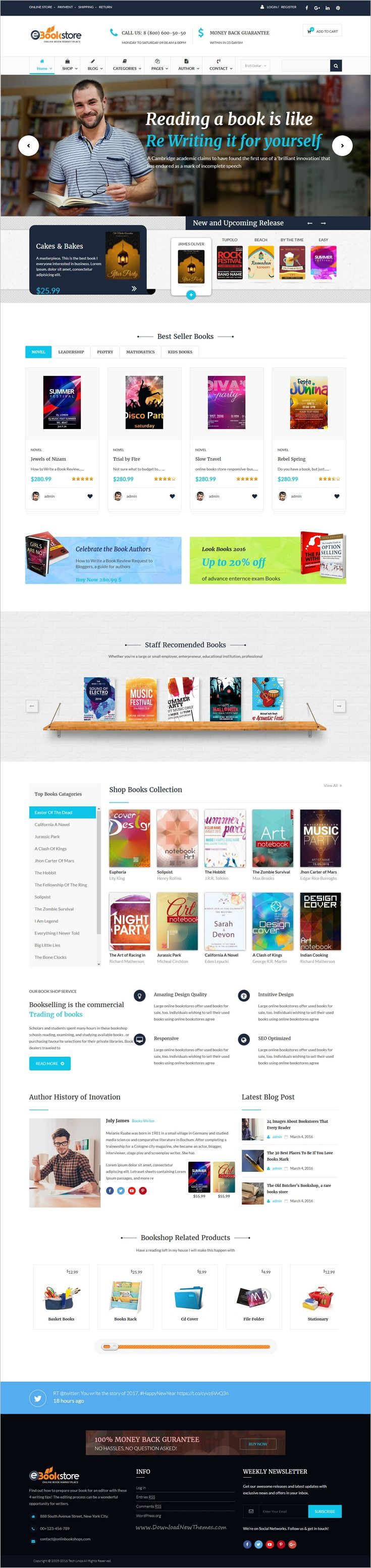 Book store is beautifully design responsive 2in1 #WordPress theme for #bookstore, #publisher, #book author or books library eCommerce website download now➩ https://themeforest.net/item/book-store-wordpress-theme-bookstore-wp/17674516?ref=Datasata