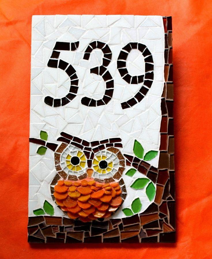 numero-residencial-em-mosaico-coruja-numeros-para-residencia.jpg (837×1024)