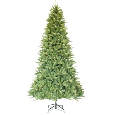 Holiday Living 9-ft Pre-Lit Balsam Fir Tree with 2409 tips, 1000 Warm White LED Lights with Multi-functions