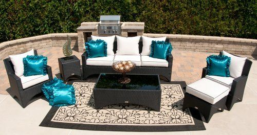 The Marchesa Collection 6-Piece All Weather Wicker Patio Furniture Deep Seating Set by Open Air Lifestyles, LLC. $3356.72. This beautiful all weather wicker deep seating set is exclusive to Outdoor Air Lifestyles, LLC. It is designed and produced by us only!! The Marchesa all weather wicker patio furniture is absolutely breathtaking in person. It has the curved lines and modern flair that will be a work of art in any living space. The Marchesa outdoor wicker furnitur...