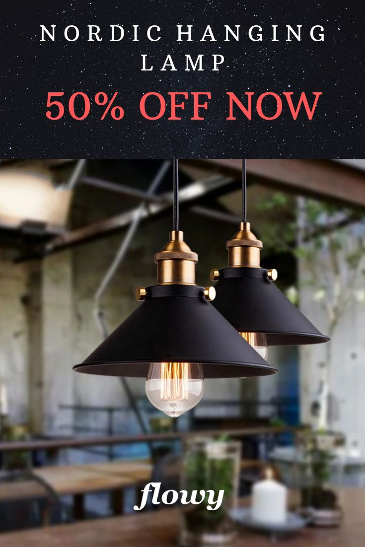 Modern Nordic Industrial Hanging Lamp