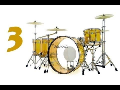 bateria de papel #3 john bonham drum set (pratos)