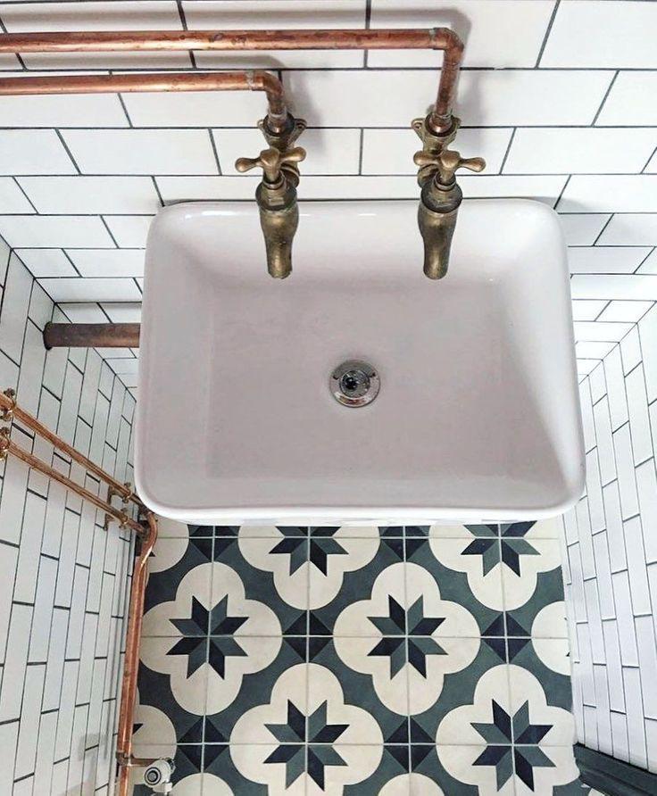 Vintage Bathroom Floor Tiles Mosaic, Retro Bathroom Floor Tile
