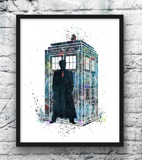 TARDIS Doctor Who Aquarell Dr. Who Kunst von gingerkidsart auf Etsy