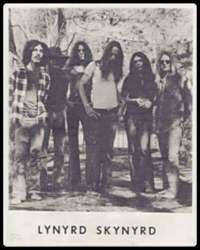Early 70s Skynyrd! Photo shoot that ends up on front cover of First and Last album. 2 drummers in Rickey Medlocke and Bob Burns and Greg Walker on bass.