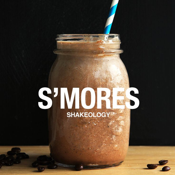 S'mores is a classic summertime treat and with summer just around the corner, we created this Shakeology recipe that captures the season's iconic flavor.      // smoothie recipe, shake recipe, shakeology, chocolate shake, protein shake recipes //