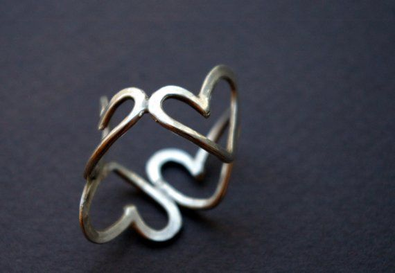 Sterling Silver Valentines Heart Ring $70: Valentines Heart, Hearts Ring, Heart Rings, Sterling Silver Hearts, Silver Valentines, Sterling Silver Rings, Jewelry Rings