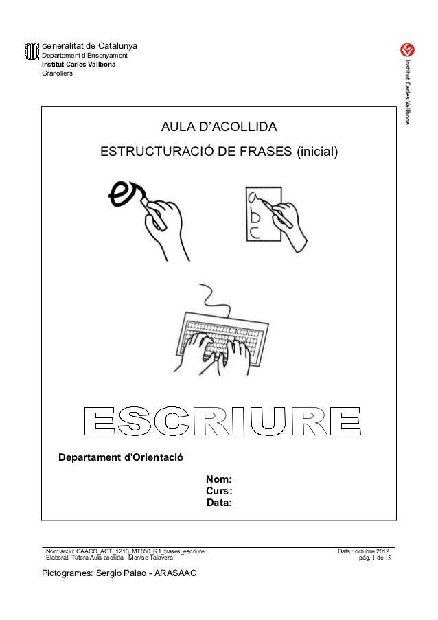 Generalitat de CatalunyaDepartament d'EnsenyamentInstitut Carles…