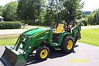 john deere compact tractor 3320 4x4 hydrostatic with loader and backhoe 500 hrs