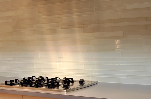 clear white glass tile backsplash thinking about this for our kitchen