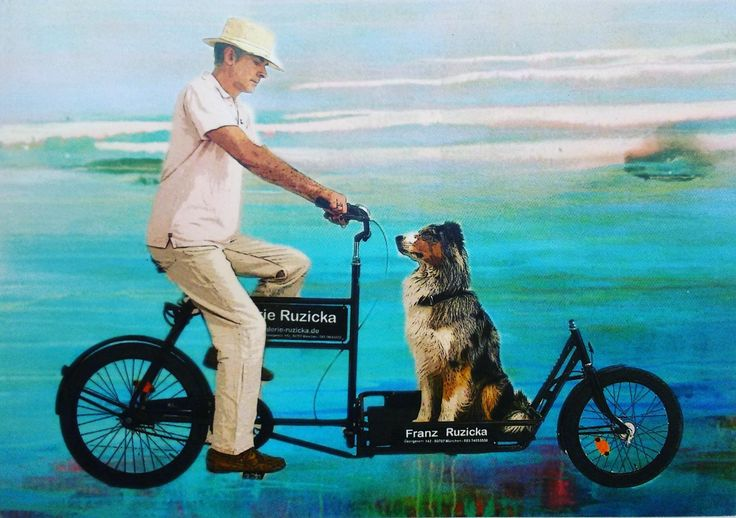 Franz and his dog by Franz Ruxicka #painter #painting #art
