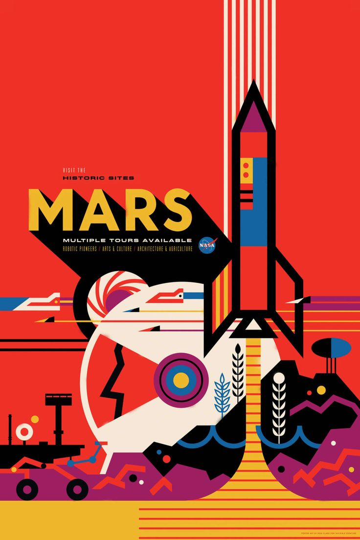 Design poster k3 - Nasa S Jet Propulsion Laboratory Commissioned Design Agency Invisible Creatures To Create A Series Of Travel Posters Titled Visions Of The Future For