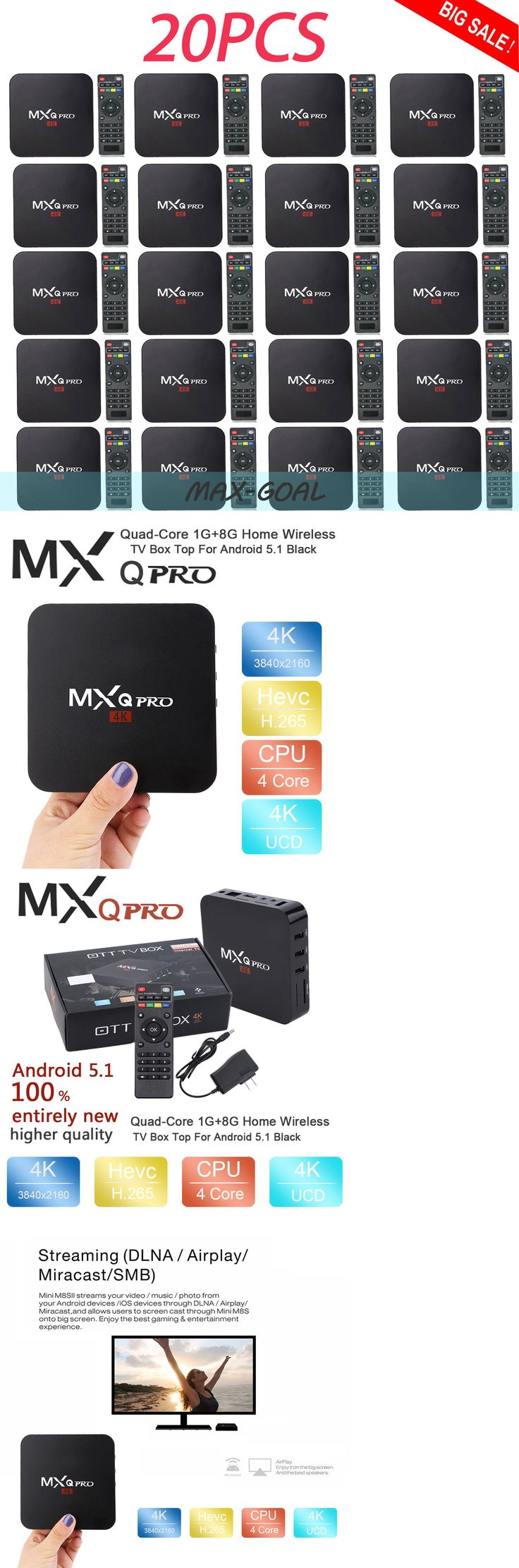 Cable TV Boxes: Lot 20 Mxq-Pro Quad Core Smart Tv Box Full Load 4K Android 6.0 Hdmi Max -> BUY IT NOW ONLY: $579.94 on eBay!