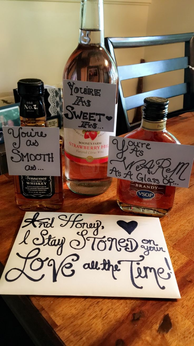Chris Stapleton - lyrics on card envelope in addition to bottles. A birthday gift for a boyfriend.