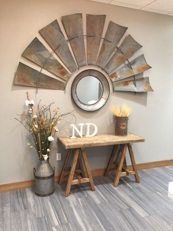 This is the windmill decor in our office. I love how it turned out.