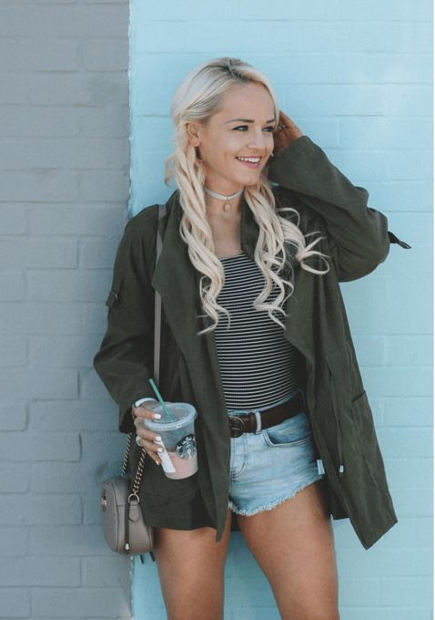 Green Military Jacket - Style Gallery & Lookbook of SheIn us