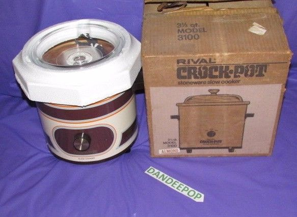 Vintage Rival Crock Pot Model 3100 3.5 Quart New  #rival #crockpot #appliance #cookware #3.5quart #cooking #dandeepop Find me at dandeepop.com