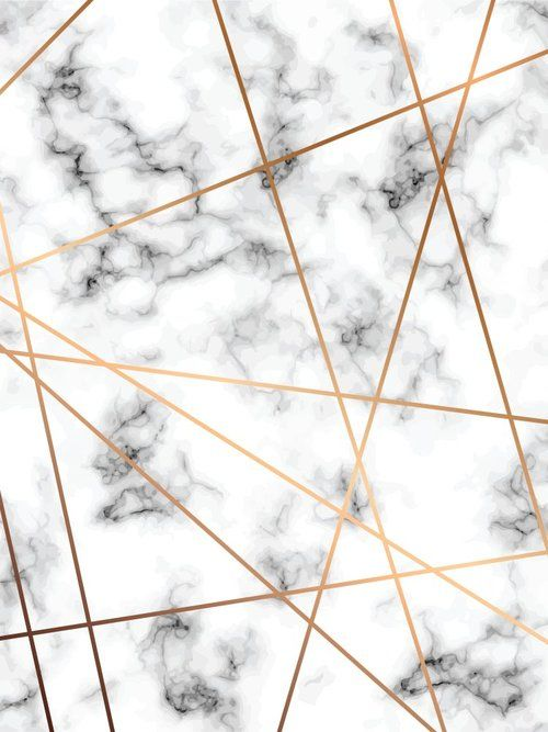 Vector Marble Texture Design With Golden Geometric Lines