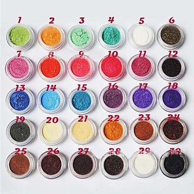 uusi muoti tyylikäs naiset lady tyttöjen helmiäiskiilto kiiltävä luomiväri 30 laatikkoa värit - EUR € 9.45