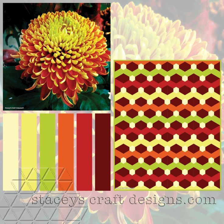 Colour Palette Chrysanthemum by Stacey's Craft Designs