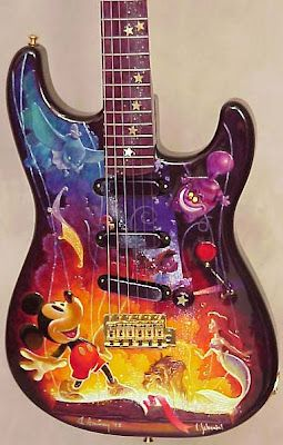 Fender Disney 75th Anniversary Strat--this has made joining pinterest one of the best ideas of my life