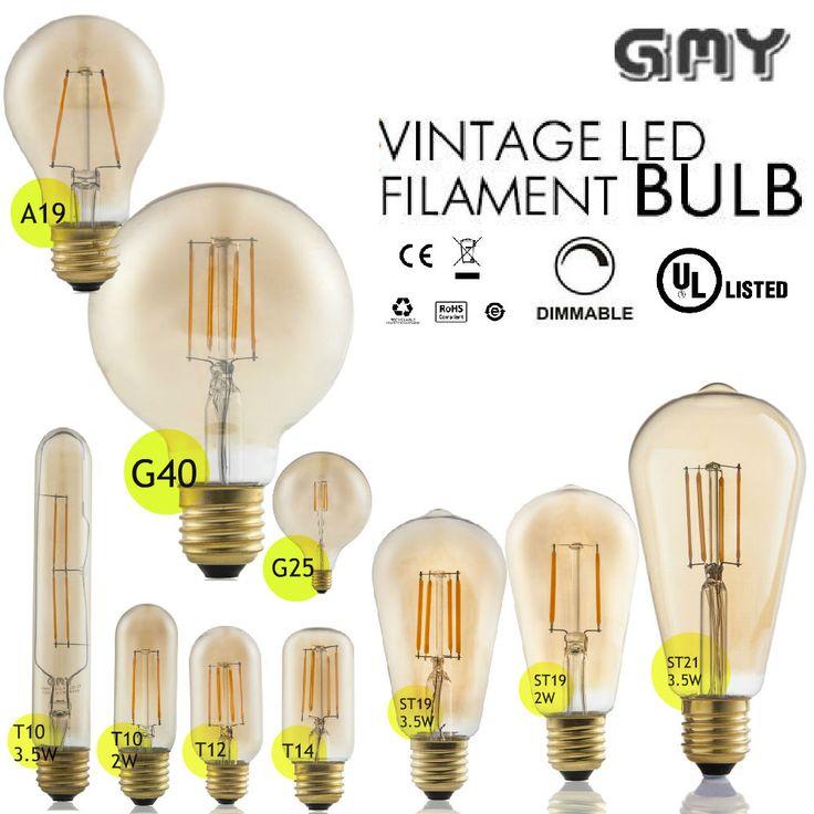 110V LED E26 2/3.5W Industrial Retro Edison Filament Bulb Candle Light Spot Lamp #Gmy