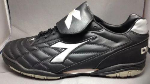 Diadora-Soccer-Shoes-10-5-US-45-EUR-Mens-Italian-Turf-Cleats-Black-New