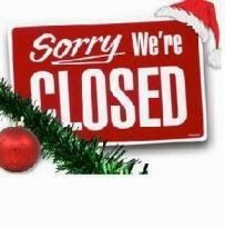 City hall is closed today & tomorrow. We will reopen, Thursday, December 26.