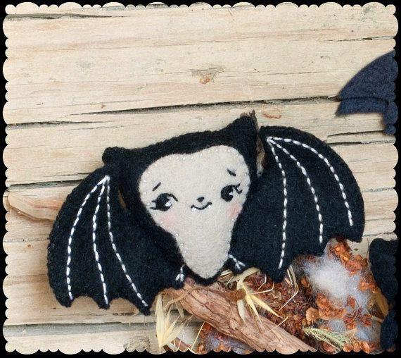 PDF. Cute bat halloween pattern. .Plush Doll Pattern by Noialand, $3.50
