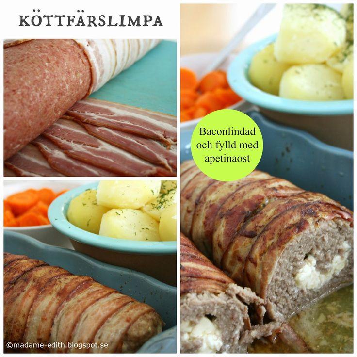 Madame Edith - Recept: Baconlindad köttfärslimpa
