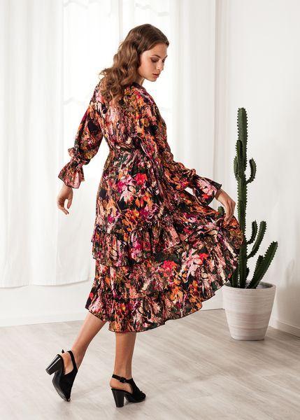 SinWeaver alternative fashion Blumenkleid Viskose Print ...