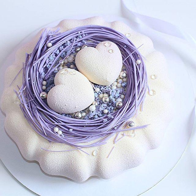 Гнездышко! 💜в таком цвете (в живую выглядит в 100 раз круче,  цвет бело-фиолетовый градиент) на фото плохо видно(…