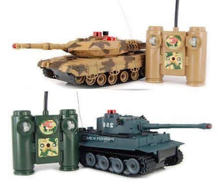 iPlay RC Battling Tanks -Set of 2 Full Size Infrared Radio Remote Control Battle Tanks – RC Tanks